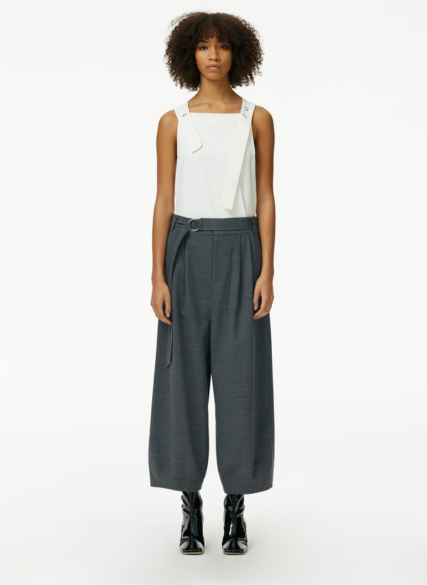 Auguste Houndstooth Stella Ankle Length Sculpted Pant
