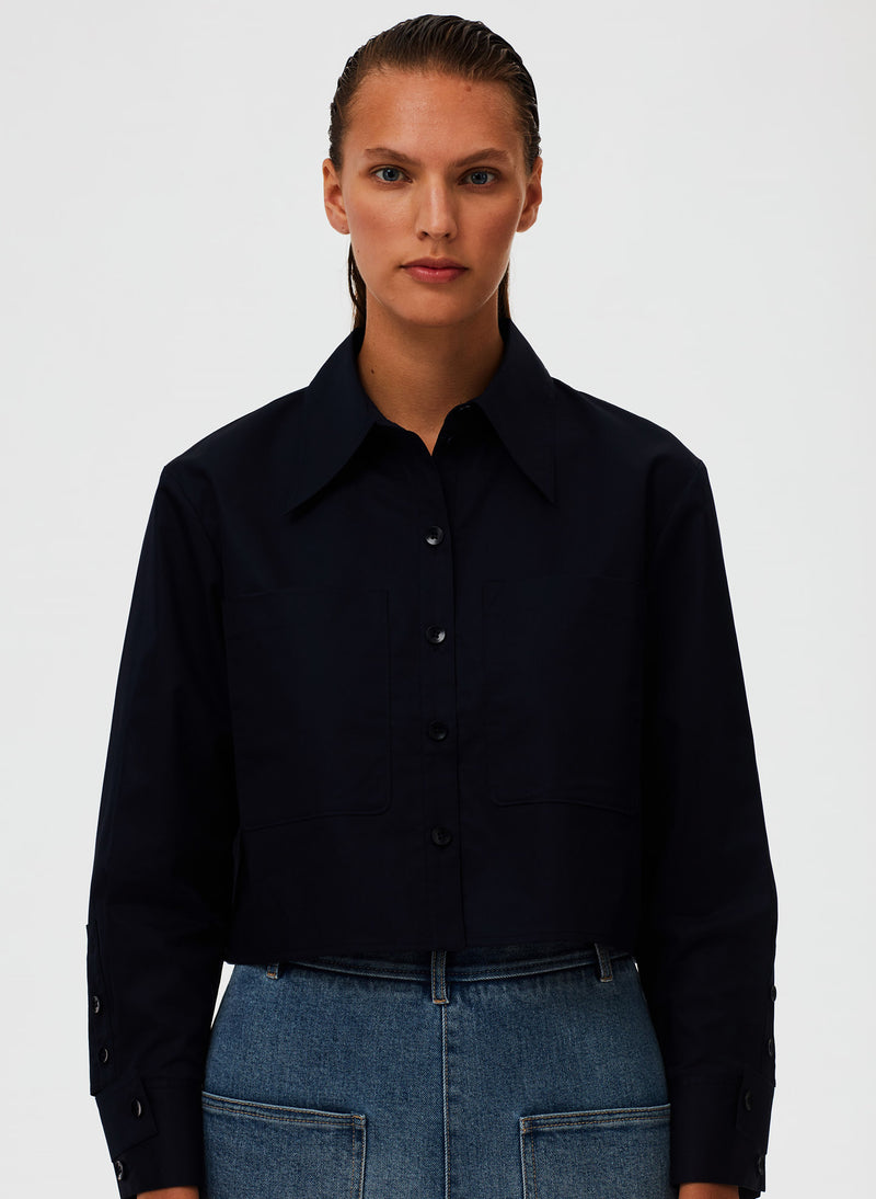 Eco Poplin Cropped Shirt Eco Poplin Cropped Shirt