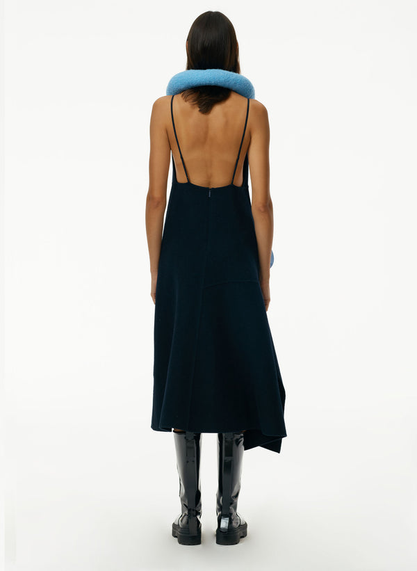 Luxe Double Faced Wool Angora Cami Dress