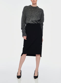 Anson Stretch Asymmetrical Trouser Skirt Black-5