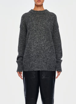 Airy Alpaca Pullover Heather Grey-7