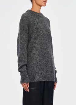 Airy Alpaca Pullover Heather Grey-8