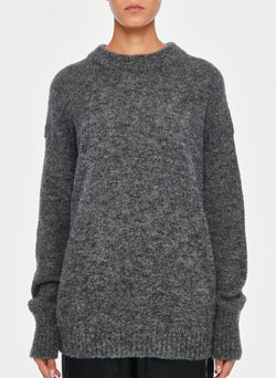 Airy Alpaca Pullover Heather Grey-11
