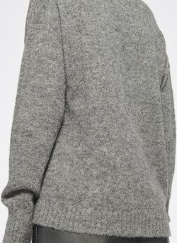 Airy Alpaca V-Neck Pullover Heather Grey-13
