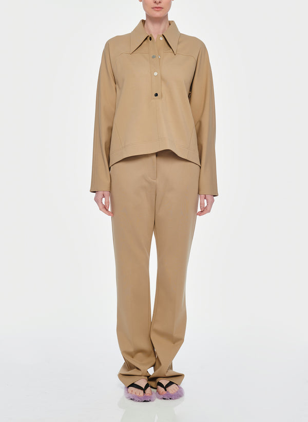 티비 스트레치 부츠컷 바지 Tibi Bond Stretch Knit Jamie Bootcut Pant