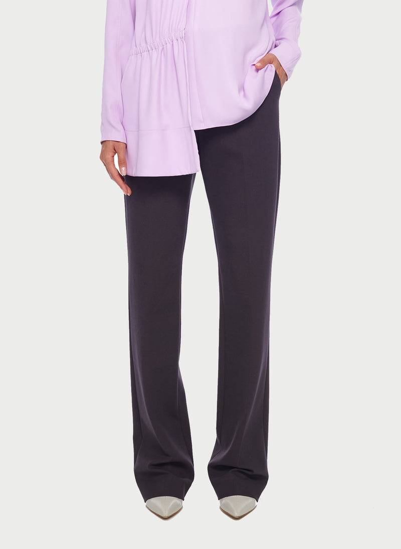 Bond Stretch Knit Jamie Bootcut Pant Plum Brown-9