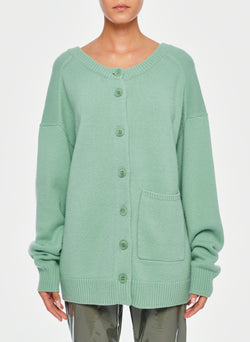 Cashmere Two-Way Cardigan Pullover Celadon-1