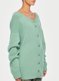 Cashmere Two-Way Cardigan Pullover Celadon-2