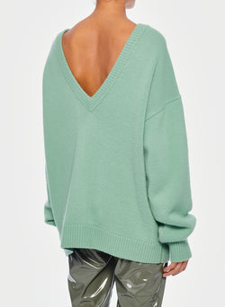Cashmere Two-Way Cardigan Pullover Celadon-5