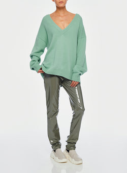 Cashmere Two-Way Cardigan Pullover Celadon-6