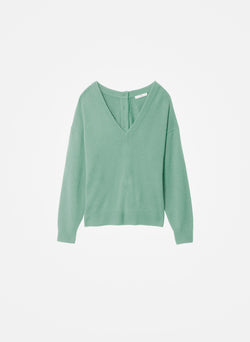 Cashmere Two-Way Cardigan Pullover Celadon-7