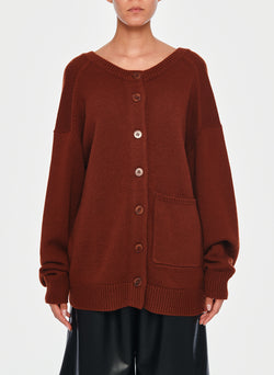 Cashmere Two-Way Cardigan Pullover Russet-16