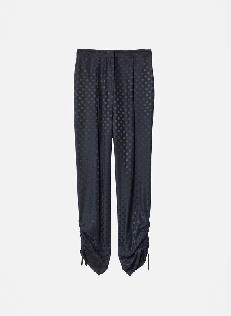 Dot Jacquard Pleated Sculpted Pant Black-11
