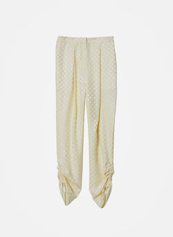 Dot Jacquard Pleated Sculpted Pant Butter-5
