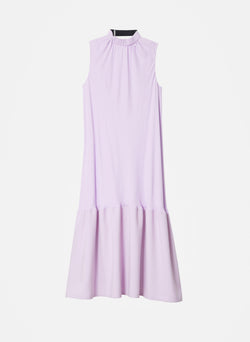Modern Drape Sculpted Drape Long Dress Mulberry-8