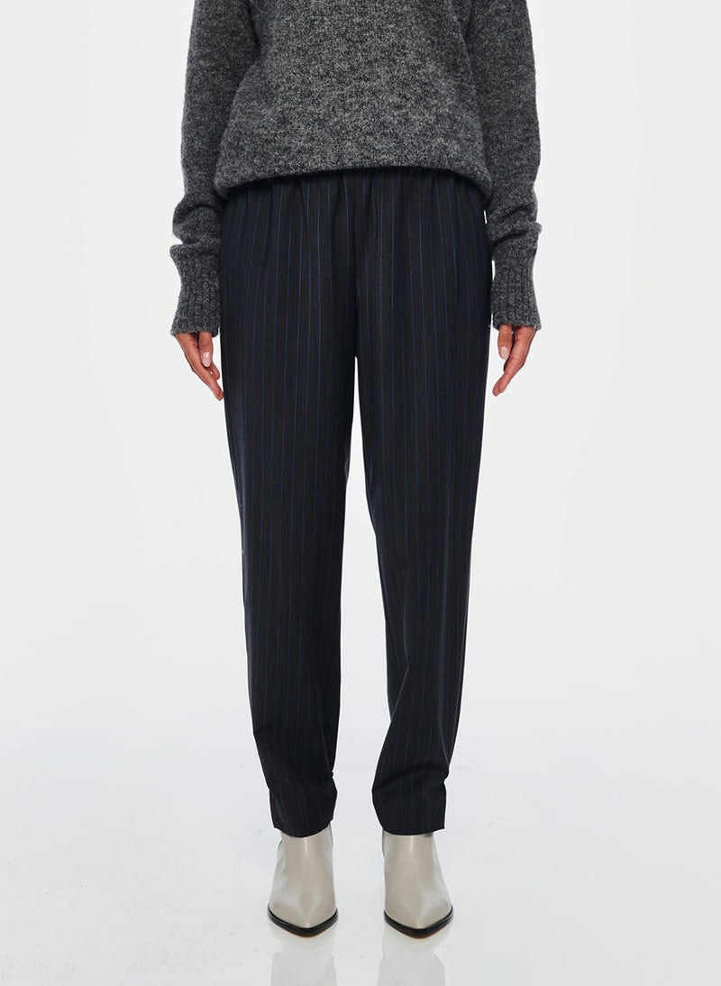 Pinstripe Pull On Pant Grey Multi-1