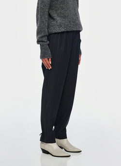 Pinstripe Pull On Pant Grey Multi-2