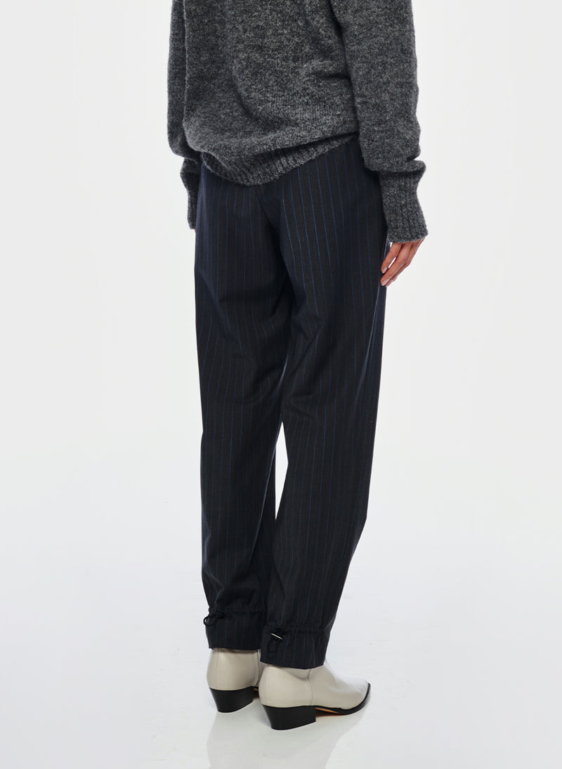 Pinstripe Pull On Pant Grey Multi-3