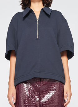 Easy Sculpted Polo Sweatshirt Navy-4