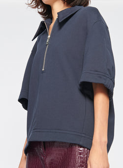 Easy Sculpted Polo Sweatshirt Navy-5
