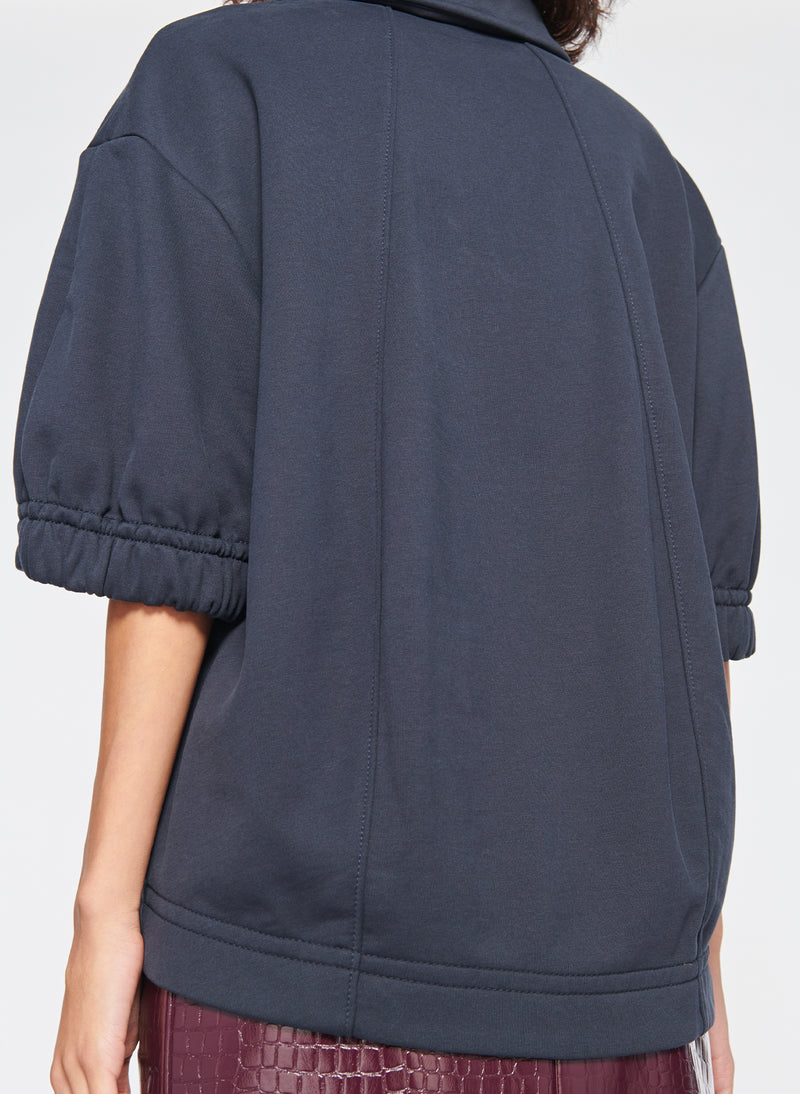 Easy Sculpted Polo Sweatshirt Navy-8