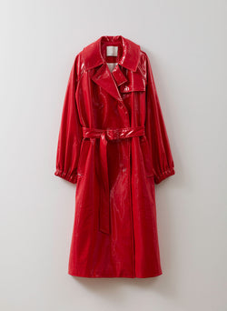 Shiny Trench Red-1