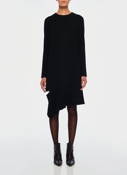 Triacetate Shift Dress Black-1