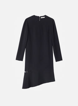 Triacetate Shift Dress Black-8
