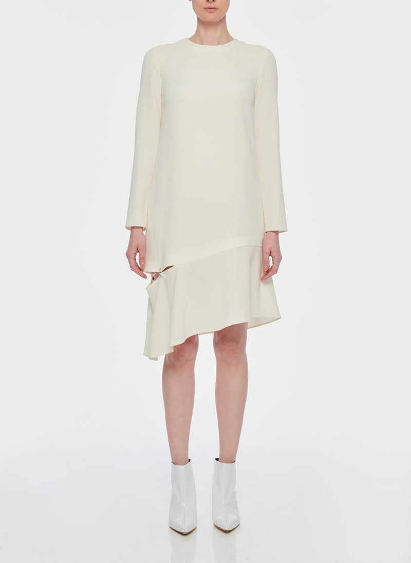 Triacetate Shift Dress Ivory-9