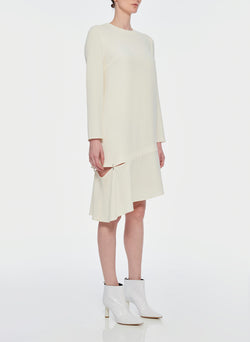 Triacetate Shift Dress Ivory-10