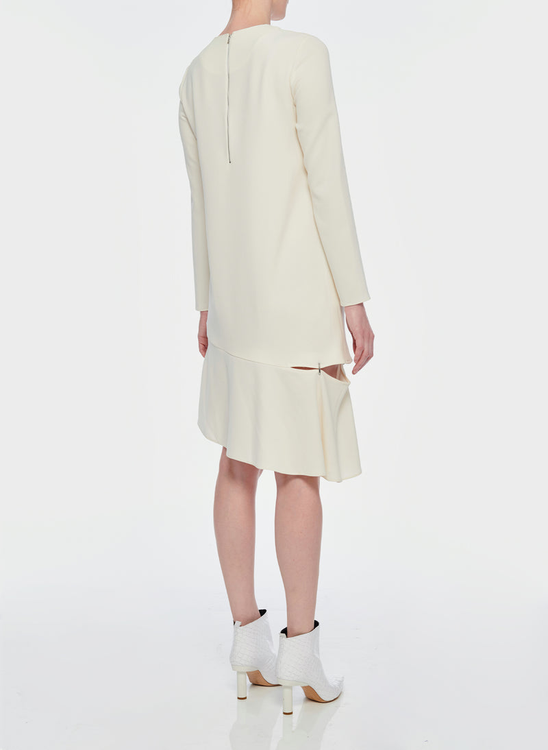 Triacetate Shift Dress Ivory-11