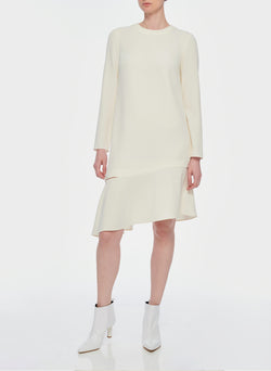 Triacetate Shift Dress Ivory-12
