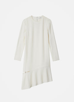 Triacetate Shift Dress Ivory-16
