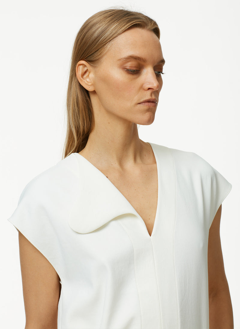 Chalky Drape Asymmetrical Flap Easy Top Chalky Drape Asymmetrical Flap Easy Top