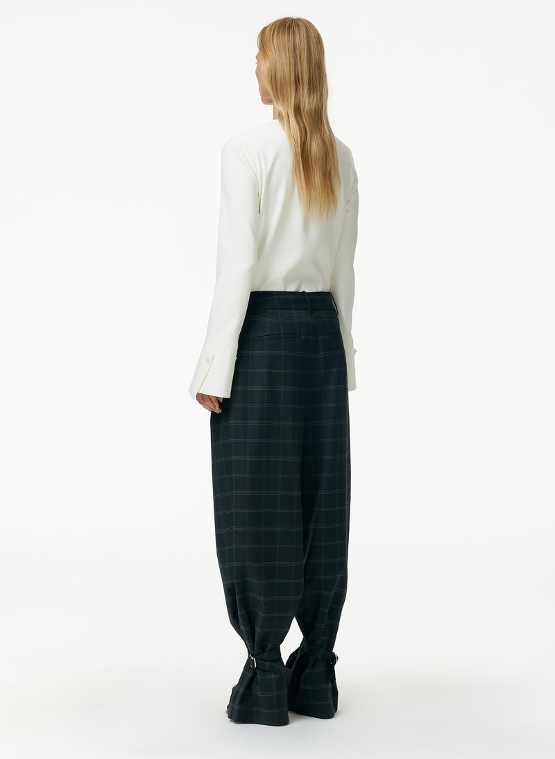 Finn Windowpane Stella Pleat Pant Finn Windowpane Stella Pleat Pant