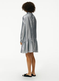 Lamé Long Sleeve Dropwaist Dress Lamé Long Sleeve Dropwaist Dress