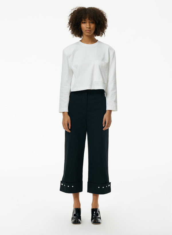 Punto Milano Cropped Easy T-Shirt