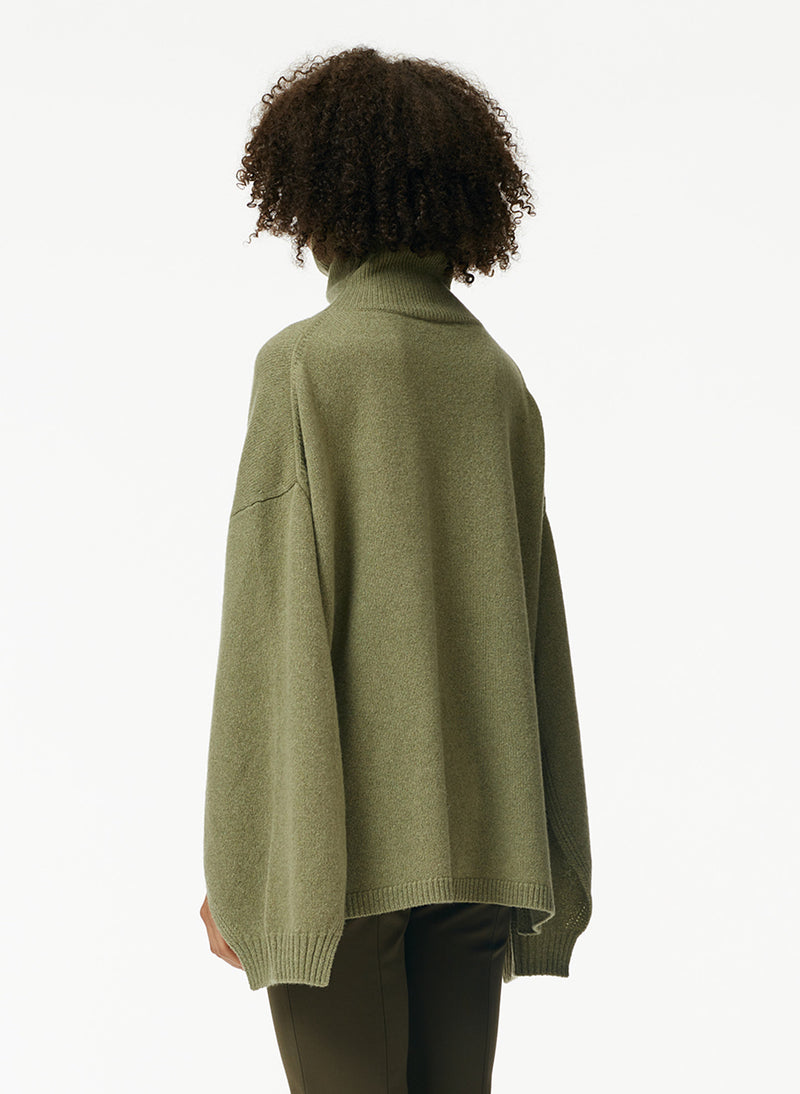 Recycled Cashmere Cape Turtleneck Sweater Recycled Cashmere Cape Turtleneck Sweater