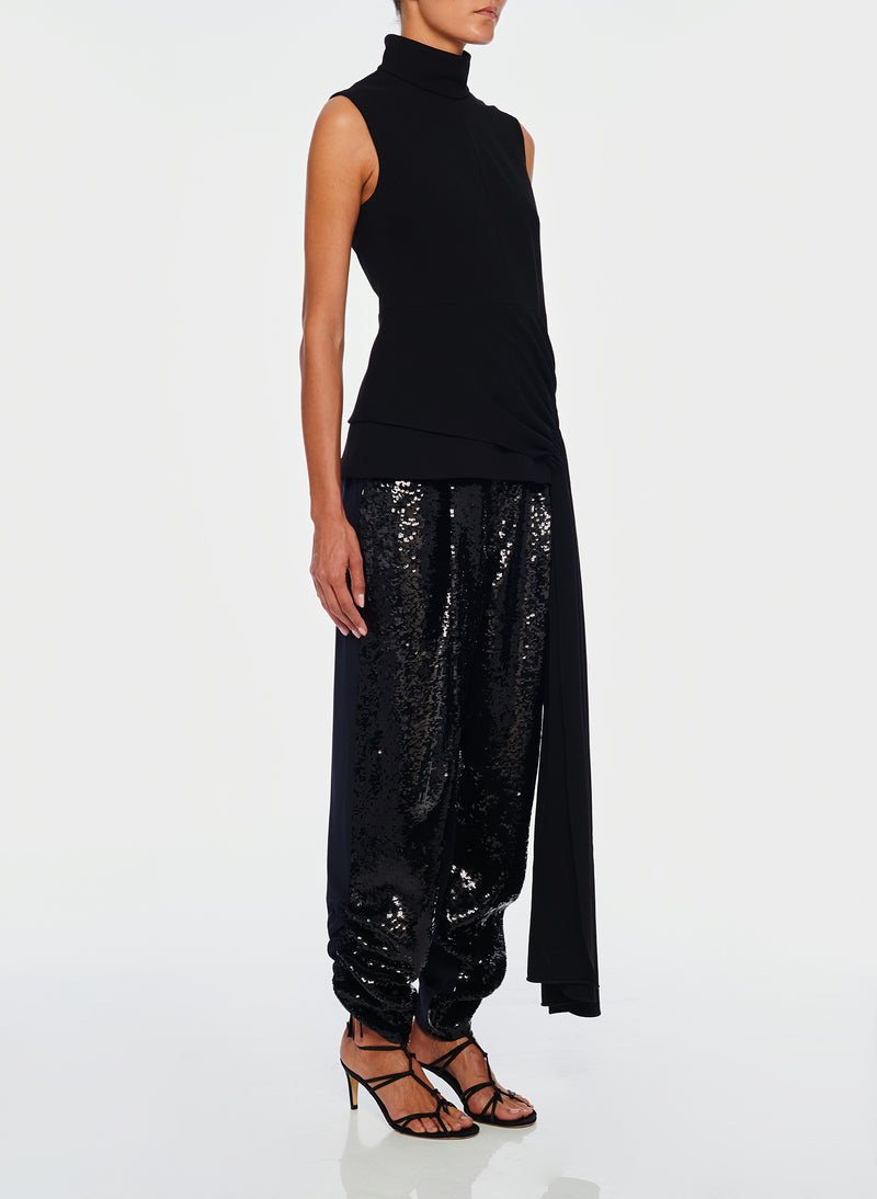 Sequin Pant Black/Navy Multi-2