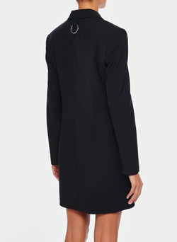 Tropical Wool Tuxedo Dress Black-3