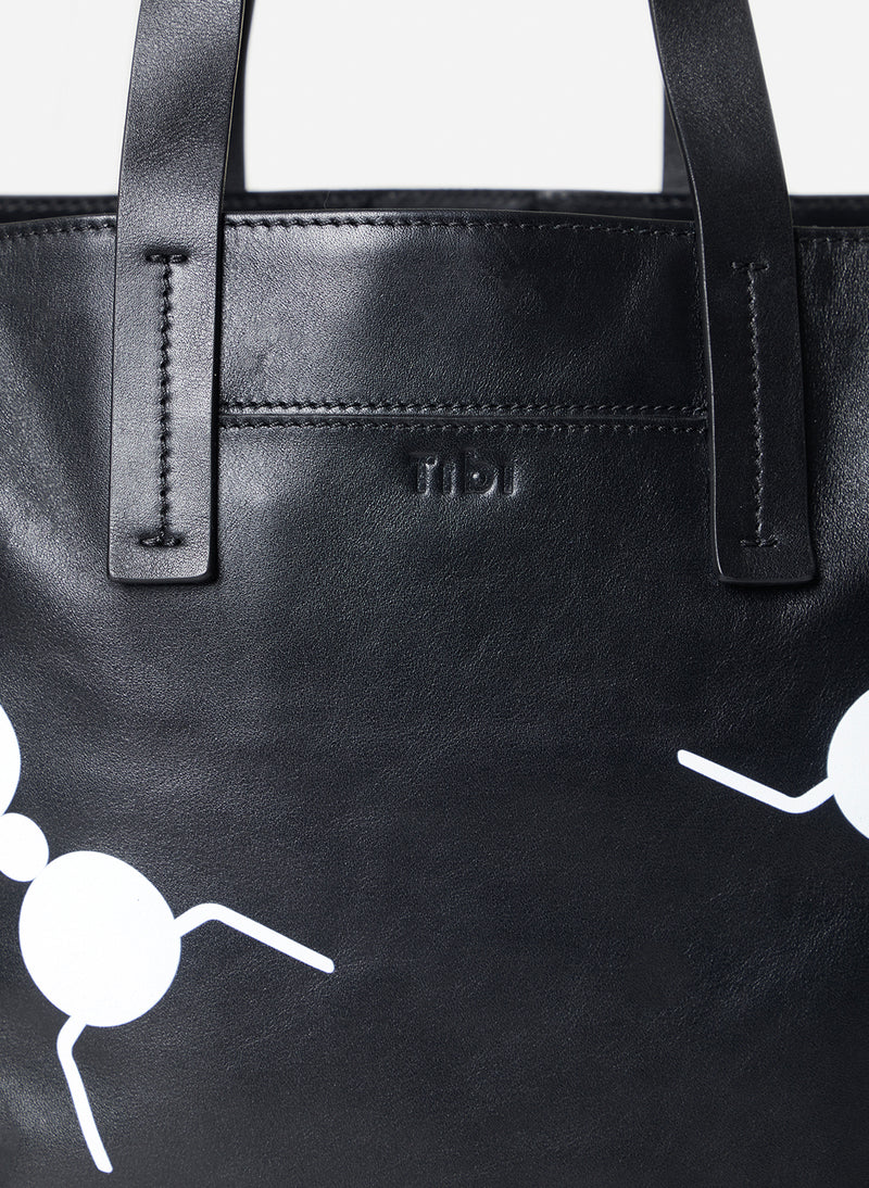 Tibi Le Client Tote Bag Black Multi-4