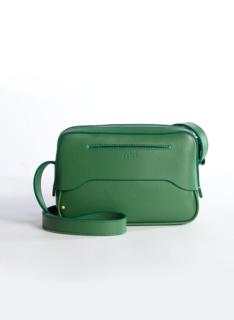 Tibi Bébé Bag Green/White Multi-3