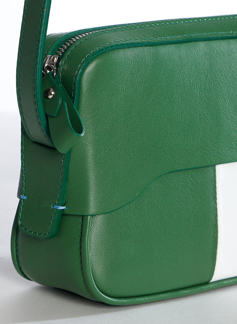 Tibi Bébé Bag Green/White Multi-4