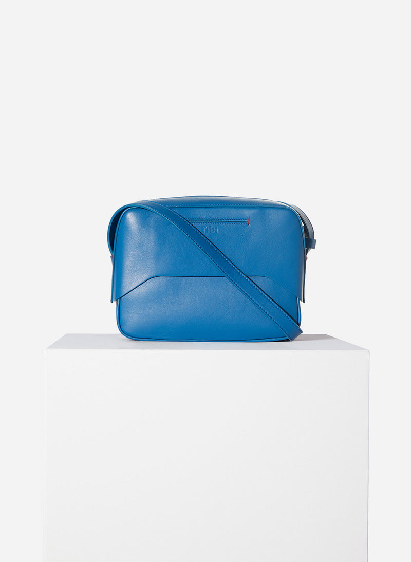Tibi Garcon Bag Blue/White Multi-2