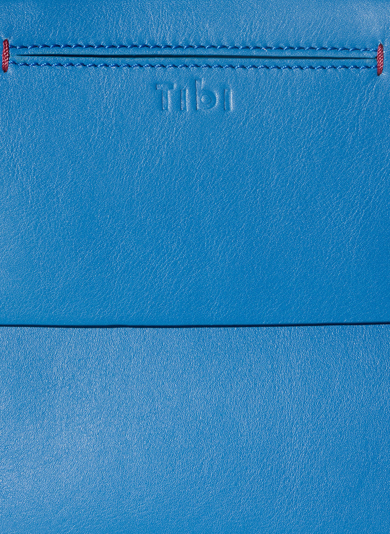Tibi Garcon Bag Blue/White Multi-4