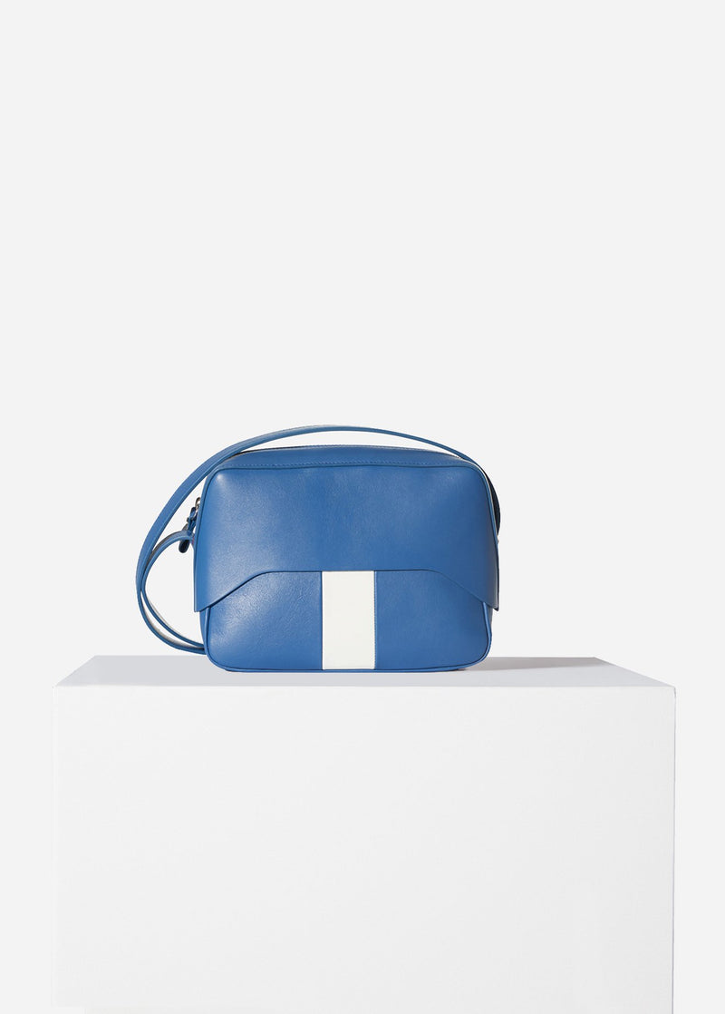 Tibi Garcon Bag Blue/White Multi-12
