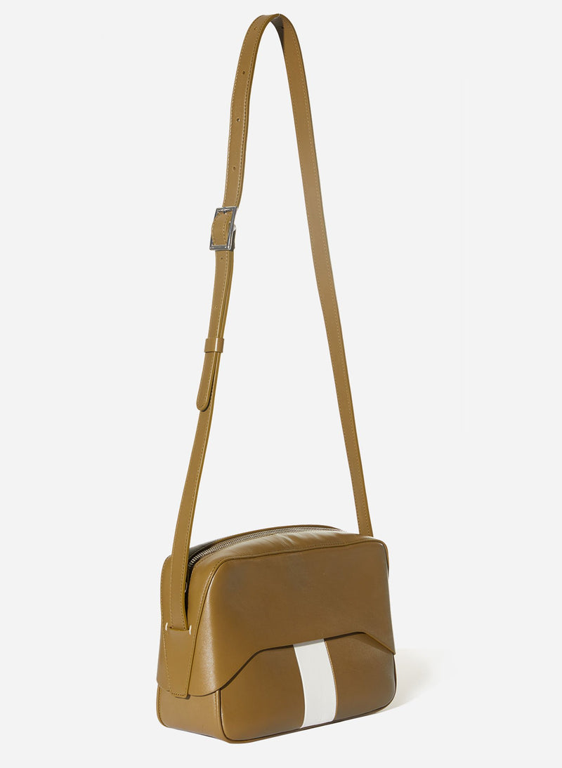 Tibi Garcon Bag Olive/White Multi-2