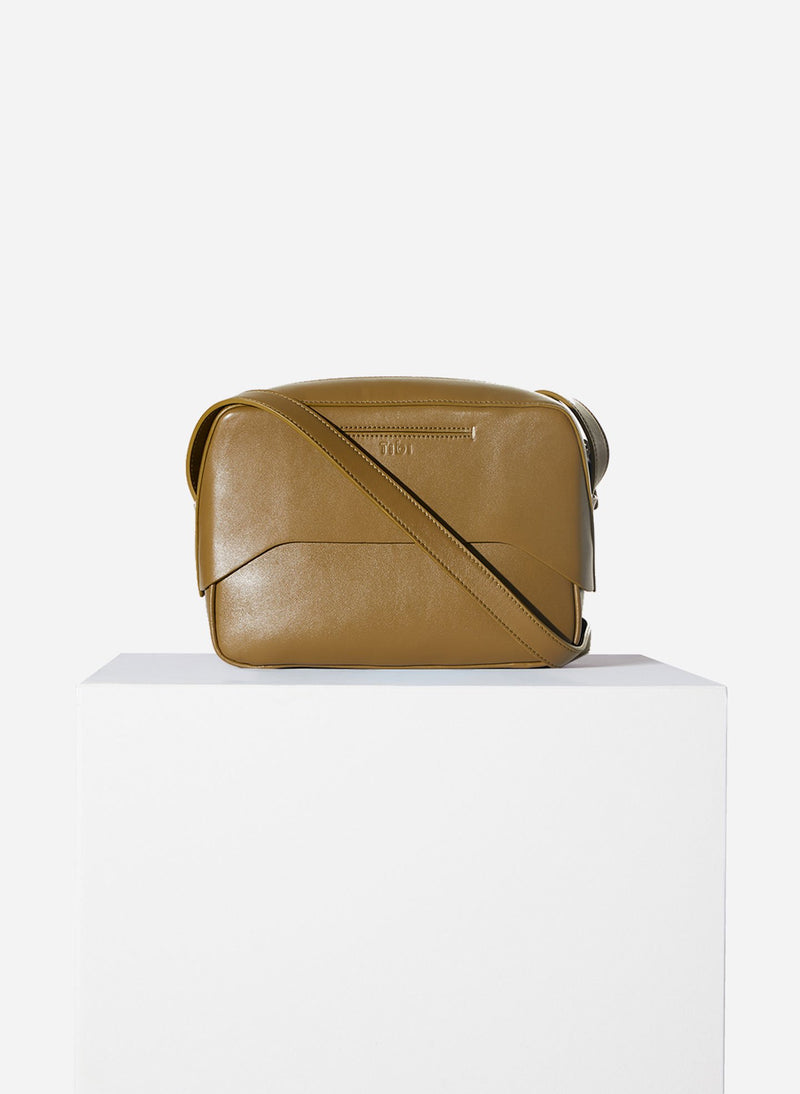 Tibi Garcon Bag Olive/White Multi-3