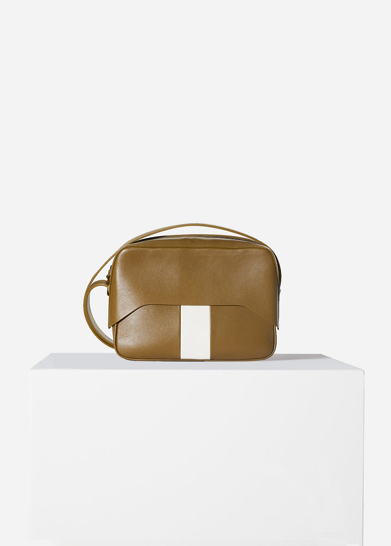 Tibi Garcon Bag Olive/White Multi-1