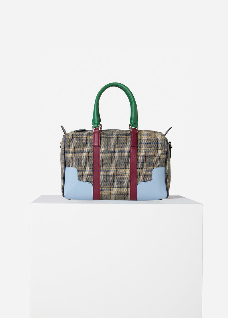 Tibi Mercredi Bag Plaid/Dusty Plum Multi-1